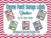{CHEVRON} Pencil Storage Labels FREEBIE