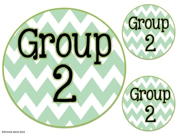CHEVRON Table & Group Labels (Large & Small)