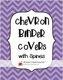 CHEVRON Teacher Binder Covers and Spines {EDITABLE PPT}