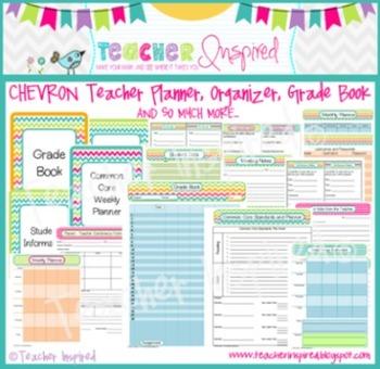 CHEVRON Teacher Planner, Gr... by Teacher Inspired | Teachers Pay ...