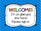 CHEVRON Welcome Parents Sign In Sheet {FREEBIE}