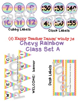 CHEVY RAINBOW CLASS LABELS