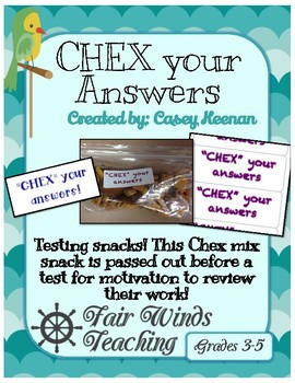CHEX your answers!