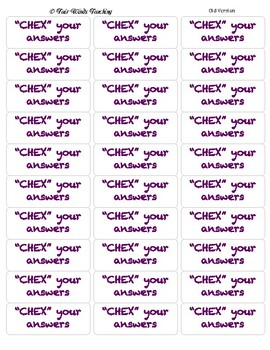 CHEX your Answers Testing Snack Labels