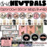 CHIC Neutrals Collection // GROWING Classroom Decor Mega Bundle