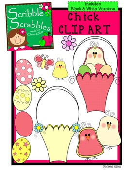 CHICK CLIP ART with 24 images