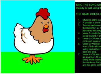 CHICKEN ON THE FENCE POST - PowerPoint - tika tika - game- instrument parts