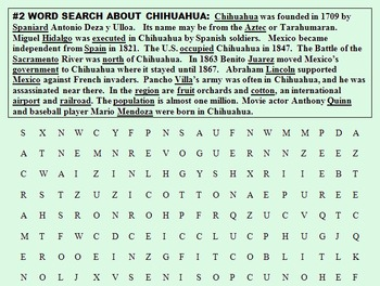 CHIHUAHUA, A CITY IN MEXICO! {SALE, Reading Comp, ESL/ELL Spanish, CCSS}