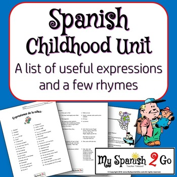 CHILDHOOD:  A list of childhood expressions and a few rhymes