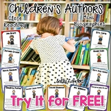 CHILDREN'S AUTHOR STUDIES ~ FREE SAMPLE~ MINI BIOGRAPHIES for EARLY ELEMENTARY