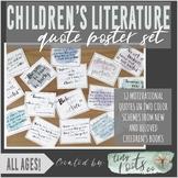 CHILDREN'S LITERATURE QUOTE POSTER SET | Grades K-5 | PAST