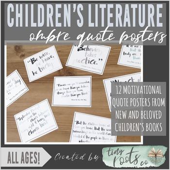 CHILDREN'S LITERATURE QUOTE POSTERS   Grades K-5   PASTEL OMBRÉ
