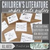 CHILDREN'S LITERATURE QUOTE POSTERS | Grades K-5 | PASTEL OMBRÉ