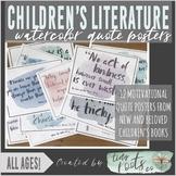 CHILDREN'S LITERATURE QUOTE POSTERS | Grades K-5 | PASTEL