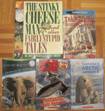 5 CHILDRENS BOOKS GUINNESS WORLD RECORDS planes ANIMALS africa STINKY CHEESE MAN
