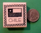 CHILE Country/Passport Rubber Stamp