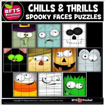 CHILLS AND THRILLS SPOOKY FACES PUZZLES
