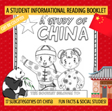 CHINA - A Study of China – A 24 Page Student Informational Reading Booklet