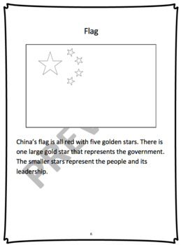 CHINA - Learn About China – A 17 Page Student Informational Reading Booklet