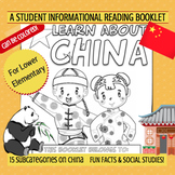 CHINA - Learn About China – A 17 Page Nonfiction Country Study Booklet