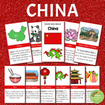 CHINA:  Learning Materials, Activity Pages and Cards