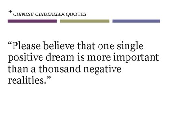 CHINESE CINDERELLA QUOTES (bulletin board)