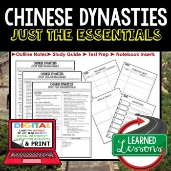 CHINESE DYNASTIES Outline Notes JUST THE ESSENTIALS Unit Review, Outline