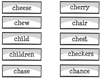 CHINESE FORTUNE COOKIES  SPEECH THERAPY /ch/ worksheets