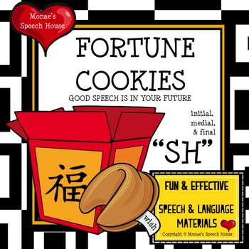 CHINESE FORTUNE COOKIES  SPEECH THERAPY /sh/ worksheets