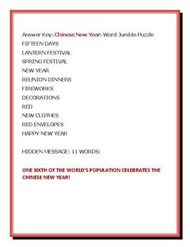 CHINESE NEW YEAR: VOCABULARY ACTIVITY