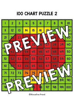 CHINESE NEW YEAR ACTIVITY KINDERGARTEN (100 CHART MYSTERY PICTURE PUZZLES)