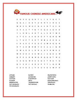 CHINESE NEW YEAR: CELEBRATE FAMOUS CHINESE AMERICANS!