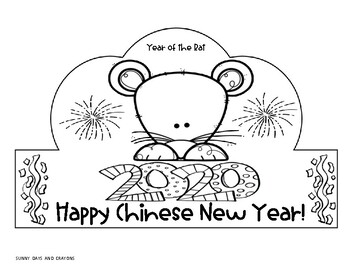 CHINESE NEW YEAR HATS /CROWNS / YEAR OF THE RAT HATS/ CROWNS