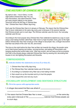 CHINESE NEW YEAR - Lesson 1 of 6 - Grades 5&6