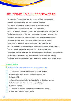 CHINESE NEW YEAR - Lesson 5 of 8 - Grade 2