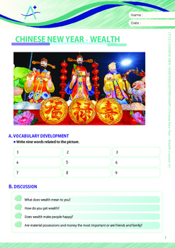 CHINESE NEW YEAR - Lesson 6 of 6 - Grades 7&8