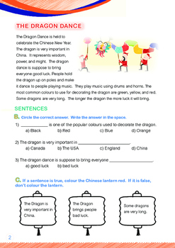 CHINESE NEW YEAR - Lesson 6 of 8 - Grade 1