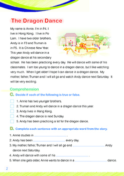 CHINESE NEW YEAR - Lesson 6 of 8 - Grades 3&4