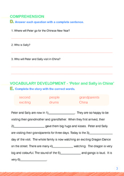 CHINESE NEW YEAR - Lesson 8 of 8 - Grade 1