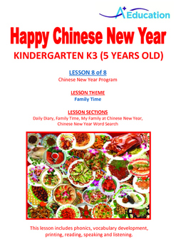 CHINESE NEW YEAR - Lesson 8 of 8 - Kindergarten 3 (5 Years Old)