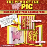CHINESE NEW YEAR 2019 Writing Activity and Craft: The Year of the Pig Agamograph