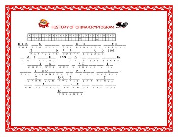 CHINESE NEW YEAR: A FUN &  HISTORICAL CRYPTOGRAM CHALLENGE