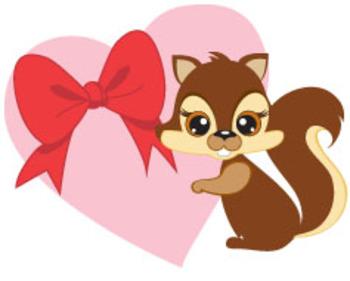 Valentine, CHIPMUNK VALENTINE FREEBIE CLIPART