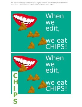CHIPS editing post-cards