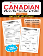 Canadian Character Ed Activities 4-6