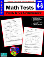 Canadian Math Tests 4-6