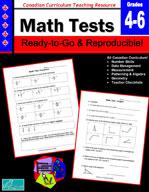 Canadian Math Tests 4-6