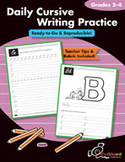 Daily Cursive Writing Practice 2-4 (USA Version)
