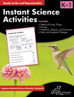 Instant Science Activities: Grades K-1 (USA Version)