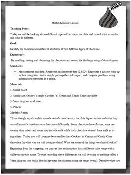 CHOCOLATE COMPARE AND CONTRAST (Math common core lesson)